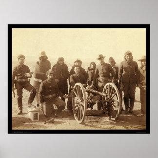 7人のネイティブアメリカン及び第1ミサイル発射機SD 1891年 ポスター