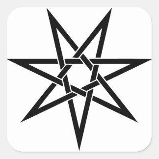 7先の尖った星 スクエアシール