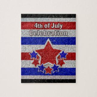7月のお祝いのパズルの第4 ジグソーパズル