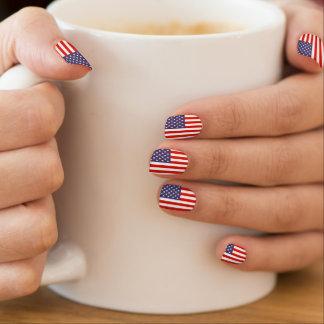 7月のアイディアの米国旗のネイルの強化 の第4 ネイルアート