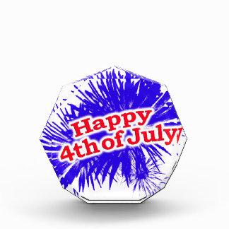 7月のグラフィックのテーマの幸せな第4 表彰盾