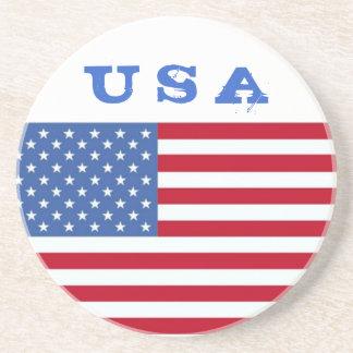 7月のコースターの米国の米国旗第4 コースター