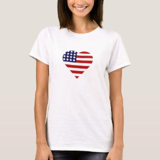 7月のハートの第4 Tシャツ