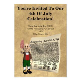 7月のパーティの招待状の第4 カード