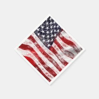 7月のピクニック紙ナプキンの第4、米国旗 スタンダードカクテルナプキン