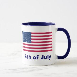 7月のマグの米国旗第4 マグカップ