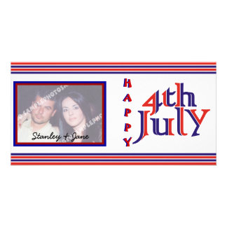 7月の写真カードの幸せな第4第4 カード