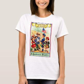 7月の女性のTシャツのヴィンテージ第4 Tシャツ