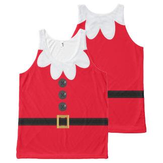 7月の小妖精や小人のノベルティのタンクトップの深紅のクリスマス オールオーバープリントタンクトップ