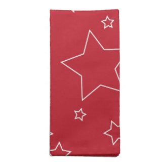 7月の布のナプキンの赤と白の星第4 ナプキンクロス