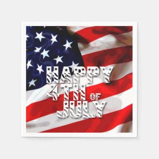 7月の愛国心が強い紙ナプキンの幸せな第4 スタンダードカクテルナプキン