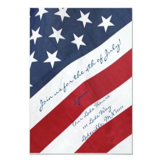 7月の招待状の米国旗第4 カード