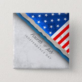 7月の旗-独立記念日の第4 5.1CM 正方形バッジ