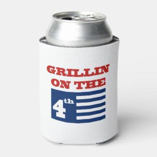 7月の第4 4日飲料のクーラーボックスのGrillin 缶クーラー