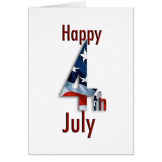 7月の米国旗カードの第4 カード