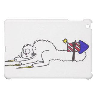 7月の花火の子猫の独立記念日の幸せな第4 iPad MINI カバー