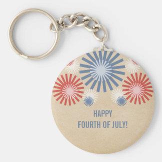7月の花火Keychainのファンキーな第4 キーホルダー