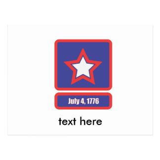 7月の4日軍隊のロゴ ポストカード