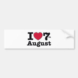 7月の7日誕生日のデザイン バンパーステッカー