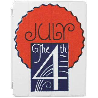 7月第4モダンなレトロの愛国心が強い独立記念日 iPadスマートカバー