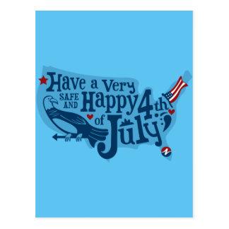 7月第4安全そして幸せ ポストカード