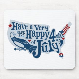 7月第4安全そして幸せ マウスパッド