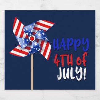 7月第4幸せ!  の愛国心が強い風車 ビールラベル