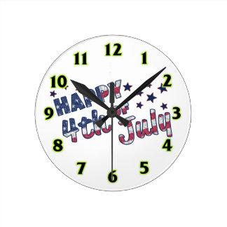 7月第4幸せ ラウンド壁時計