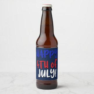 7月第4幸せ! 愛国心が強い| ビールラベル