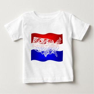 7月米国の4 ベビーTシャツ