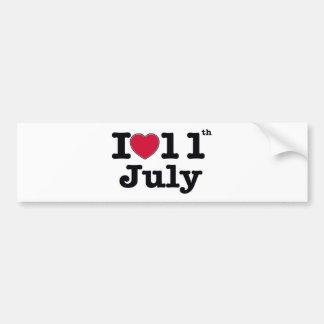 7月11日誕生日の私の日 バンパーステッカー