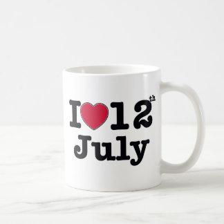 7月12日誕生日の私の日 コーヒーマグカップ
