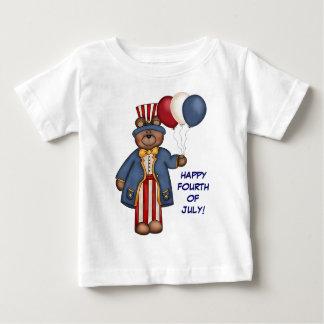 7月4日くまのTシャツ ベビーTシャツ