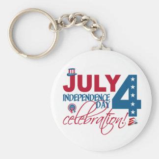 7月4日のお祝いのキーホルダー キーホルダー