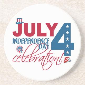 7月4日のお祝いのコースター コースター