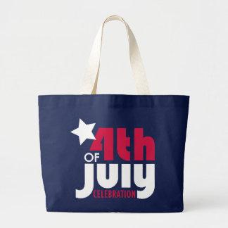 7月4日のお祝いのトート ラージトートバッグ