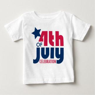 7月4日のお祝いのTシャツ ベビーTシャツ