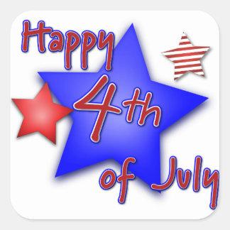 7月4日のお祝い スクエアシール