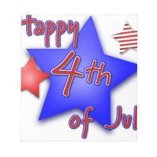7月4日のお祝い ノートパッド