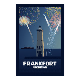 7月4日のお祝い、フランクフォート、ミシガン州李 ポスター