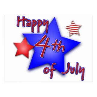 7月4日のお祝い ポストカード