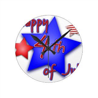 7月4日のお祝い ラウンド壁時計