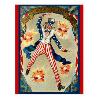 7月4日のお祝い-米国政府 ポストカード