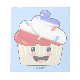 7月4日のカップケーキ ノートパッド