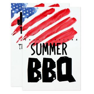 7月4日のカラフルのバーベキュー カード