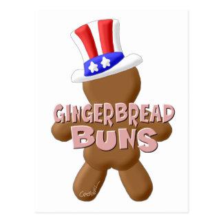 7月4日のジンジャーブレッドのパン ポストカード