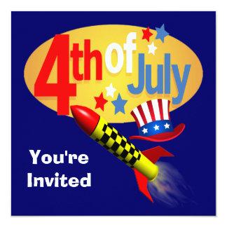 7月4日のパーティの招待状 カード