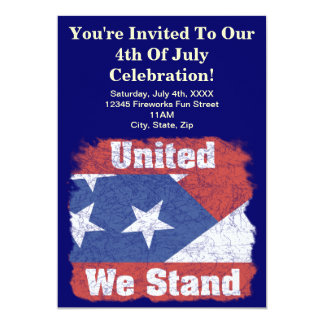 7月4日のパーティの招待状 12.7 X 17.8 インビテーションカード