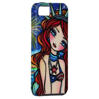 7月4日の人魚のファンタジーの芸術のiPhoneの場合 iPhone 5 タフケース