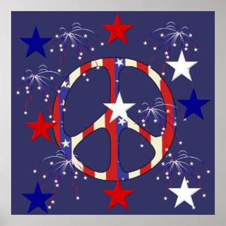 7月4日の平和 ポスター